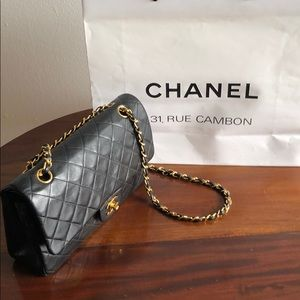 Chanel 2.55 Vintage lambskin, 18k plated chain